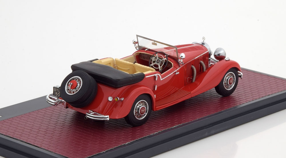 Mercedes-Benz 500 K 4 Passenger Touer Mayfair Open 1934 Rood 1-43 Matrix Scale Models