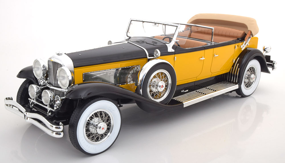 Duesenberg Model SJ Tourster Derham 1932 Geel / Zwart 1-12 Premium Classixxs ( Resin )