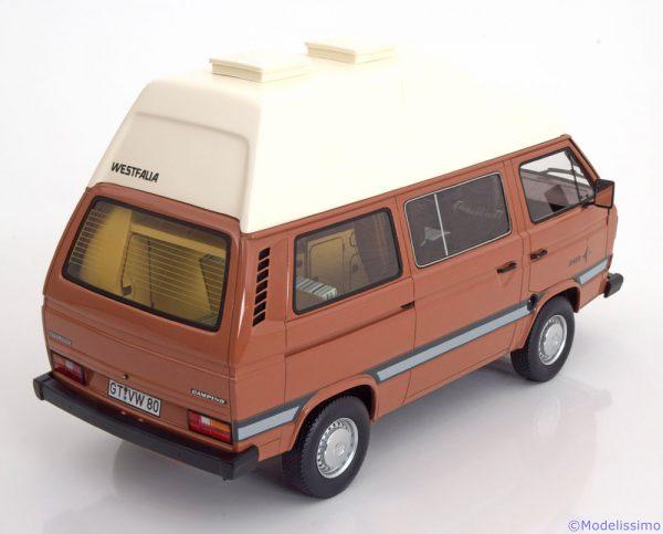 Volkswagen T3a Westfalia Joker 3 Bruin/Wit 1:18 Premium Classixxs Limited 500 pcs.