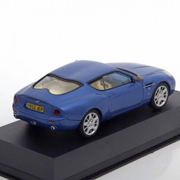 Aston Martin DB7 Zagato 2003 Blauw Metallic 1-43 Whitebox Limited 1000 Pieces