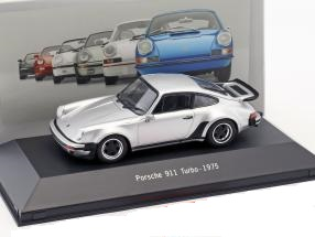 Porsche 911 (930) Turbo 1975 Zilver 1:43 Atlas Porsche Collection