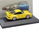 Porsche 911 (964) RS 3.8 1992 Geel 1:43 Atlas Porsche Collection
