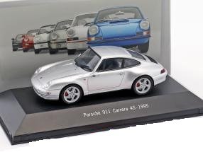 Porsche 911 (993) Carrera 4S 1995 Zilver Metallic 1:43 Atlas Porsche Collection