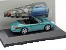Porsche 911 (996) Carrera Cabriolet 1999 Groen Metallic 1:43 Atlas Porsche Collection