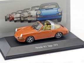 Porsche 911 Targa 1973 Oranje 1:43 Atlas Porsche Collection