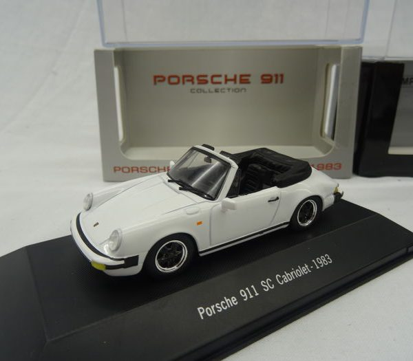 Porsche 911 SC Cabriolet 1983 Wit 1/43 Atlas Porsche Collection