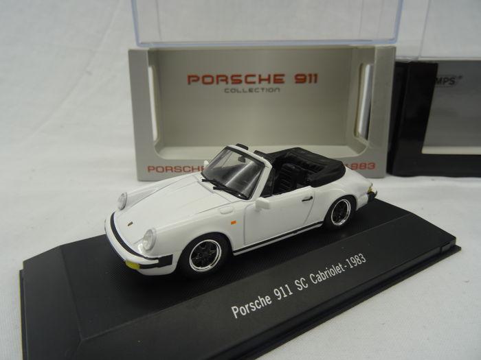 Porsche 911 SC Cabriolet 1983 Wit 1/43 Atlas Porsche Collection