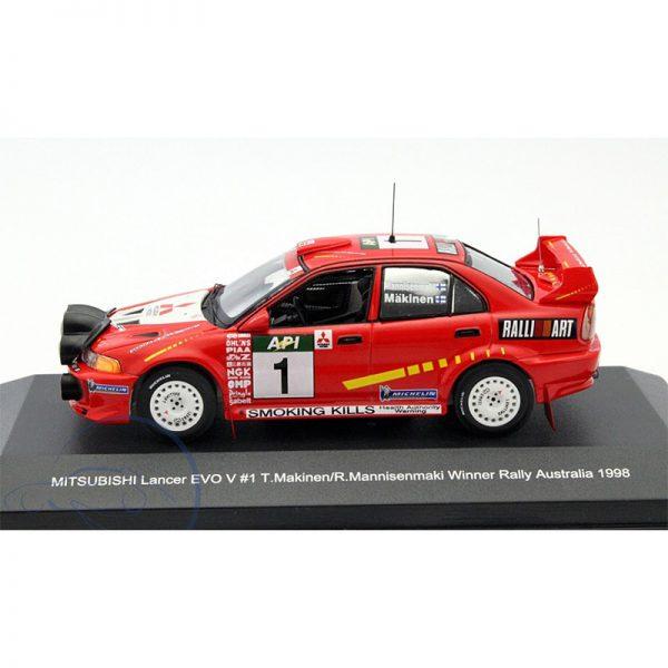 Mitsubishi Lancer Evo V #1 Winner Rally Australia 1998 Makinen 1-43 Whitebox Limited 1000 Pieces