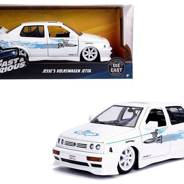 Volkswagen Jetta A3 Fast&Furious 1995 Wit/Blauw 1-24 Jada Toys