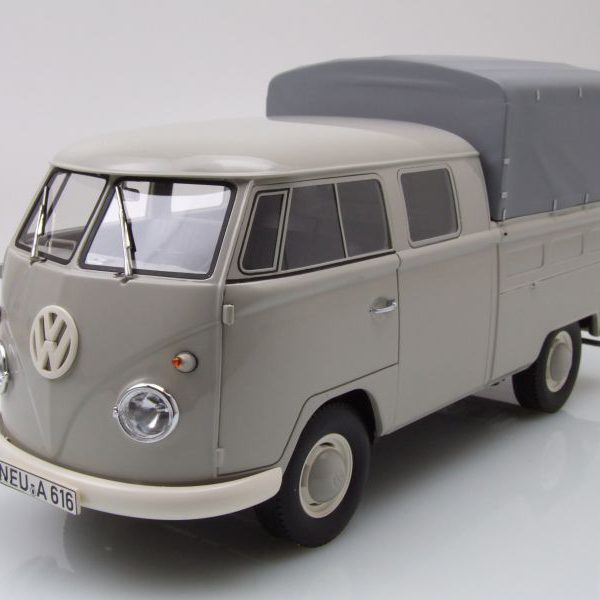 Volkswagen T1 Bus Doka Grijs 1:18 Premium Classixxs Limited 500 pcs.