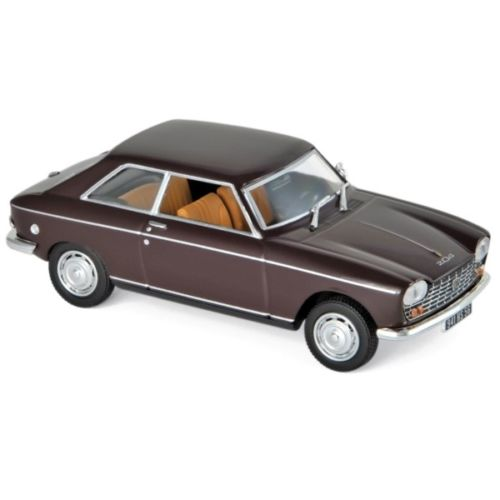 Peugeot 204 Coupe 1967 Maroon 1-43 Norev