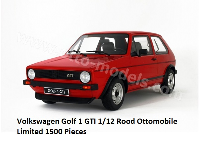 Volkswagen Golf 1 GTI Rood 1/12 Ottomobile Limited 1500 Pieces