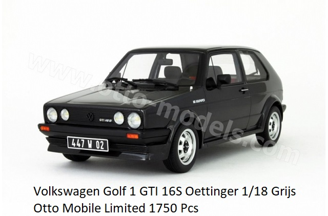 Volkswagen Golf I GTI 16S Oettinger Donkergrijs 1-18 Ottomobile Limited 1750 Pieces
