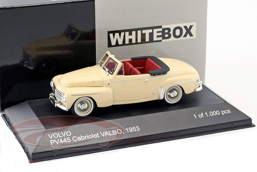 Volvo PV445 Cabriolet Valbo 1953 Creme 1-43 Whitebox Limited 1000 Pieces