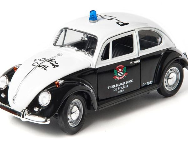 Volkswagen Beetle 1967 Policia Civil Sao Paulo Brazil Zwart / Wit 1-18 Greenlight Collectibles