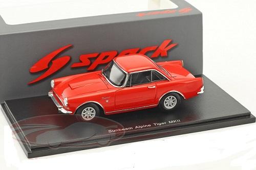 Sunbeam Alpine Tiger MKII 1965 Rood 1-43 Spark