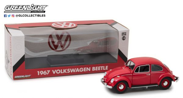 Volkswagen Beetle 1967 Rood 1-18 Greenlight Collectibles