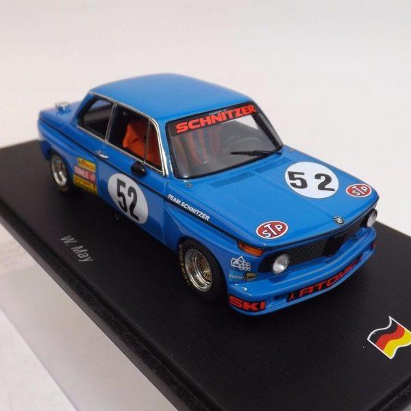 BMW 2002 #52 DRM 1974 W. May Blauw 1-43 Spark