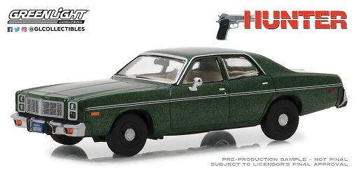 "Dodge Monaco 1977 ""Rick Hunter's ""Groen Metallic 1-43 Greenlight Collecitbles"