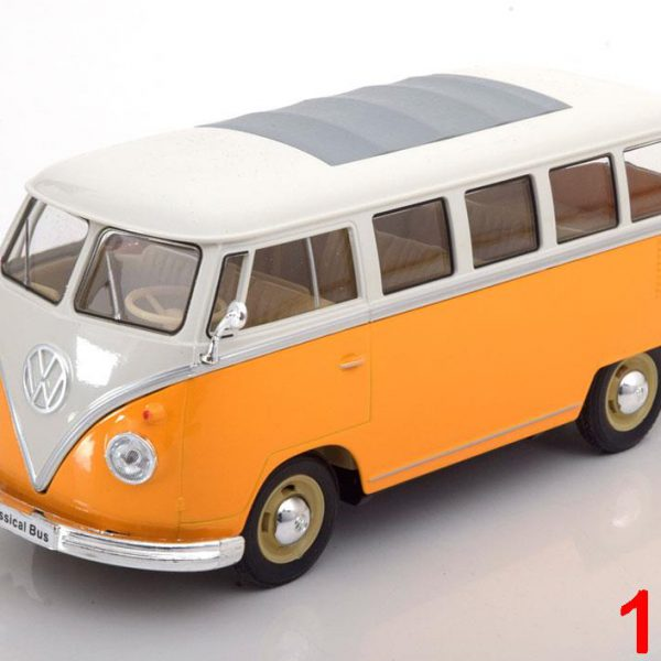 Volkswagen T1 Bus 1963 Geel / Wit 1-24 Welly