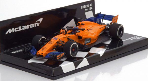 McLaren MCL33 # 14 F1 2018 Fernando Alonso 1:43 Minichamps