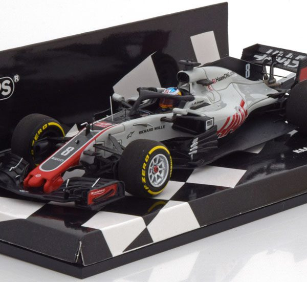 Haas F1 Team VF-18 Ferrari F1 2018 Romain Grosjean, 1-43 Minichamps