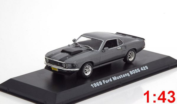 """Ford Mustang Boss 429 1969 """"Movie John Wick (2014)"""" Gray / black 1:43 Greenlight Collectibles"""