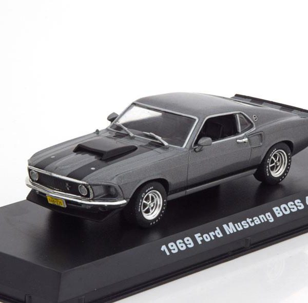 "Ford Mustang Boss 429 1969 ""Movie John Wick (2014)"" Gray / black 1:43 Greenlight Collectibles"