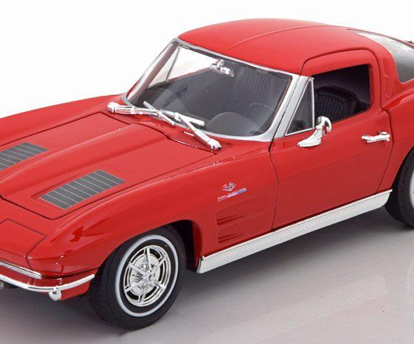 Chevrolet Corvette 1963 Split Window Rood 1-24 Welly
