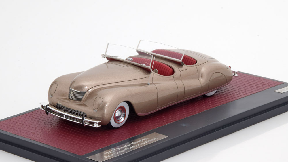 Chrysler Newport Dual Cowl Phaeton LeBaron 1941 Goud Metallic 1-43 Matrix Scale Models Limited 199 Pieces