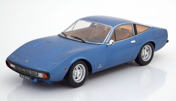 Ferrari 365 GTC4 1971 Blauw Metallic 1-18 KK Scale Limited 750 Pieces