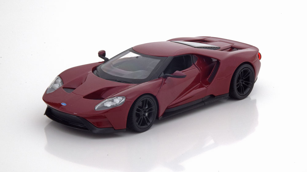 Ford GT 2017 Bordeaux Rood 1-24 Welly