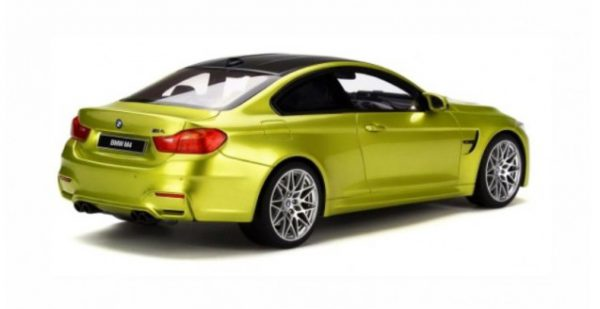 BMW M4 (F82) Competition Package Groengeel Metallic 1-18 GT Spirit Limited 1500 Pieces
