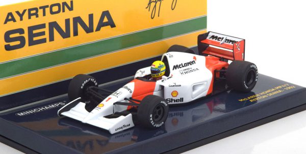 McLaren Honda MP4/7 1992 A.Senna 1-43 Minichamps