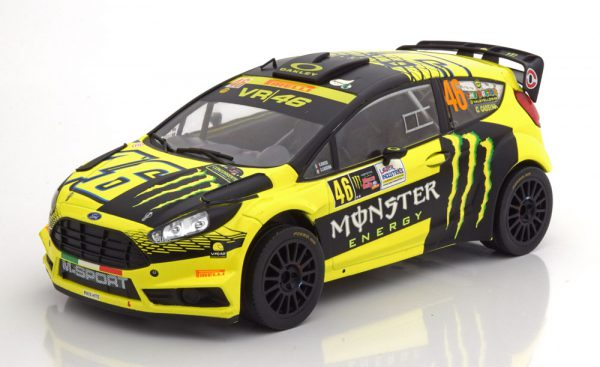 Ford Fiesta RS WRC No.46 Rally Monza 2015 Rossi/Cassina 1:18 Ixo models
