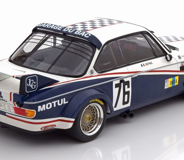 BMW 3.0 CSL No.76, 24h Le Mans 1977 Depnic/Coulon 1-18 Minichamps Limited 450 Pieces