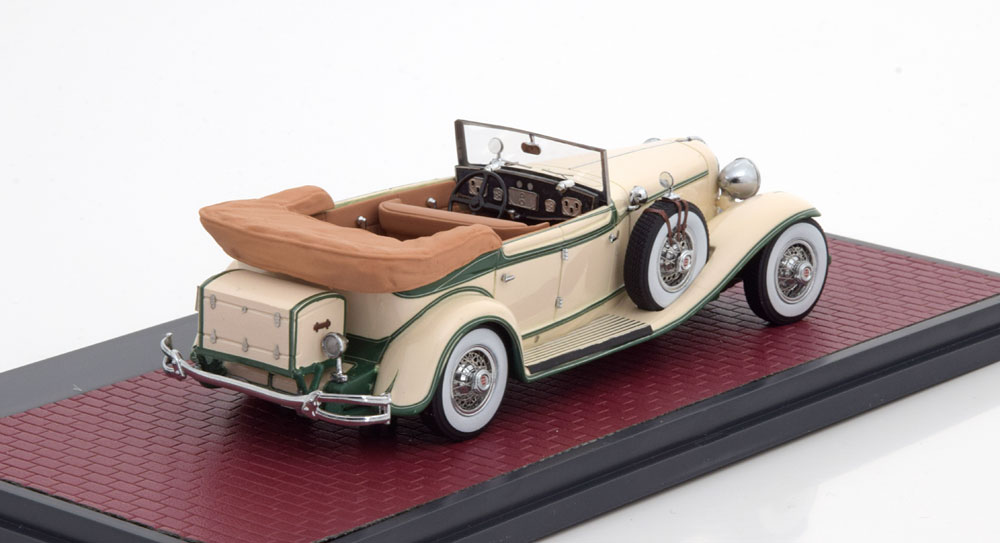 Cord L-29 Phaeton Sedan 1931 Beige / Groen 1-43 Matrix Scale Models Limited 240 Pieces