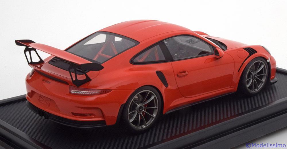 Porsche 911 (991) GT3 RS 2016 Oranje 1-12 incl. Vitrine, Spark Limited 200 Pieces