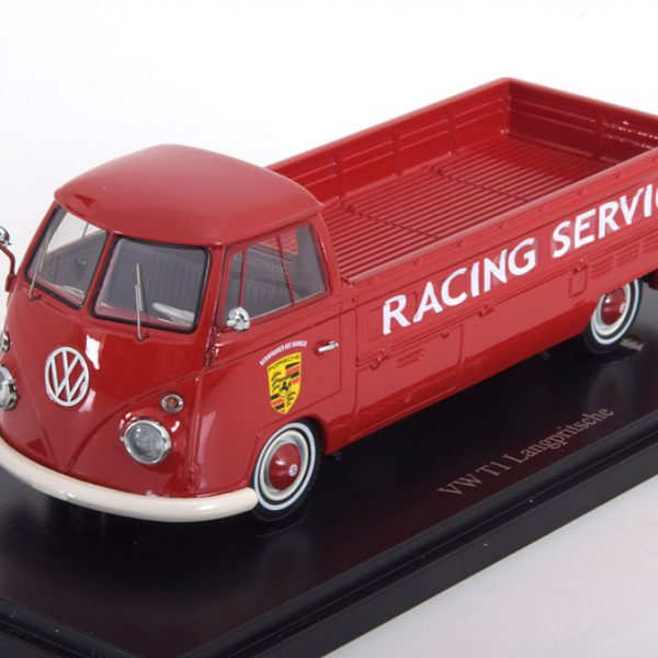 "Volkswagen T1 Pick Up Long ""Porsche Service ""Rood 1-43 Autocult"