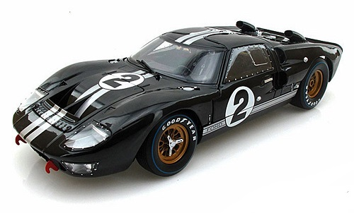 Ford GT 40 MK II 1966 Nr# 2 Zwart 1-18 Shelby Collectibles