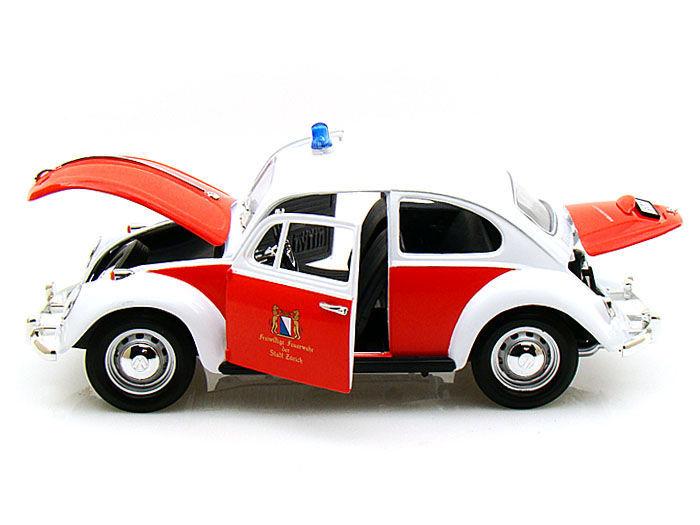 Volkswagen Beetle 1967 Feuerwehr Zurich ( Zwitserland) Rood / Wit 1-18 Greenlight Collectibles
