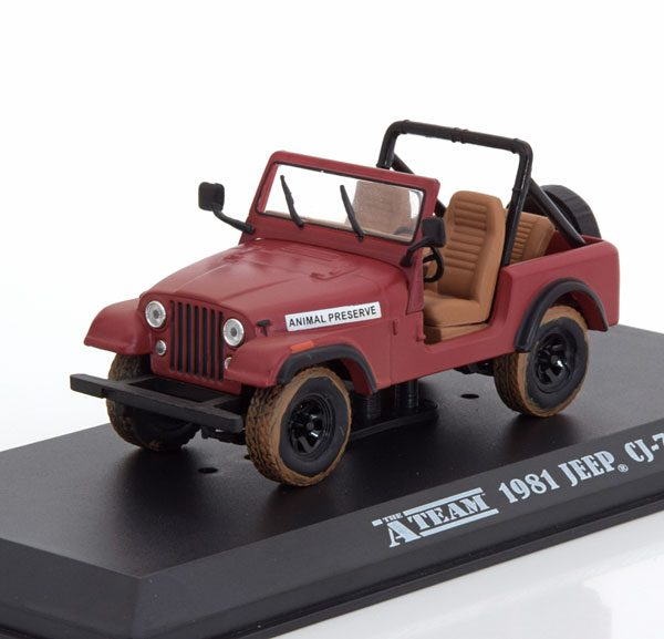 Jeep CJ-7 1981 The A-Team Rood 1-43 Greenlight Collectibles