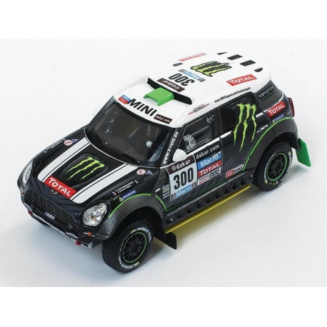 Mini All 4 Racing #300 2nd Paris Dakar 2014 S.Peterhansel / J.P.Cottret 1-43 Ixo Models