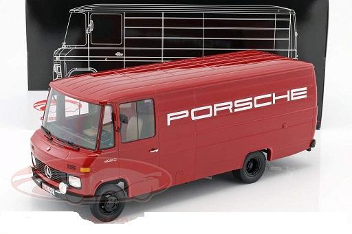 "Mercedes-Benz L408 ""Porsche ServiceWagen"" 1972 Rood 1:18 Premium ClassiXXs"
