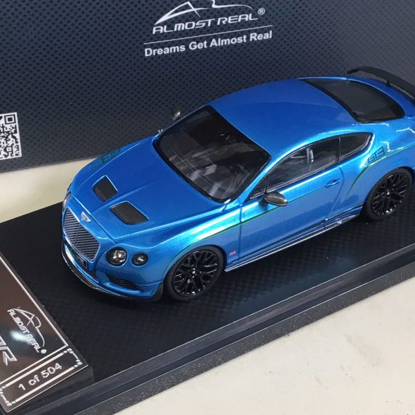 Bentley Continental GT3-R 2015 Blauw Metallic 1-43 Almost Real