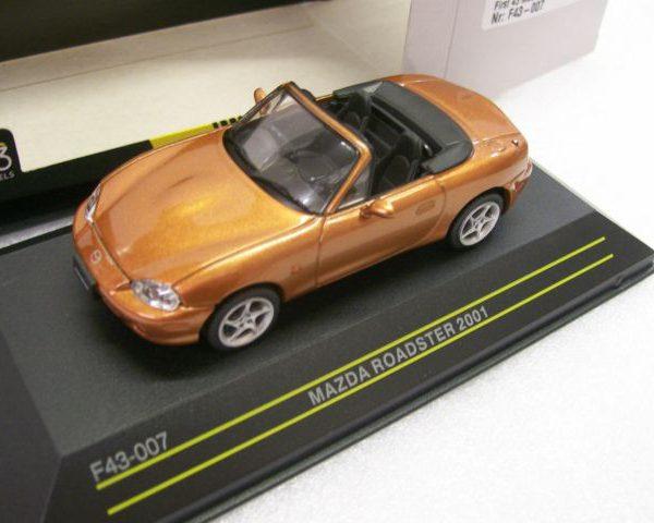 Mazda Mx-5 Roadster 2001 Bruinoranje Metallic 1-43 First 43 Models