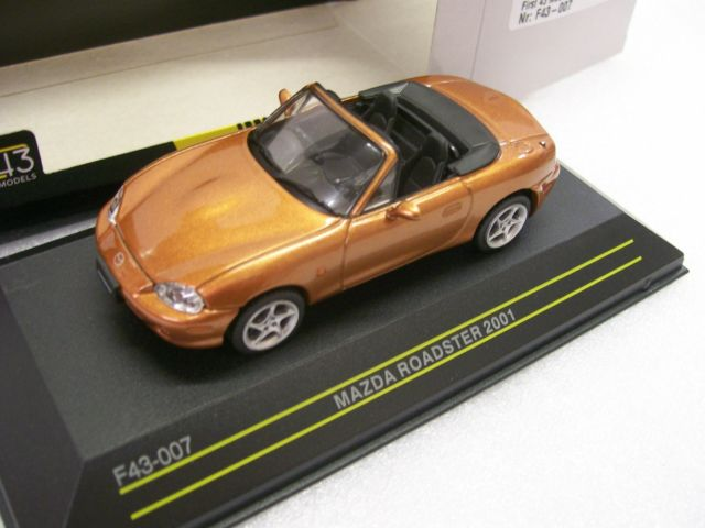Mazda Mx-5 Roadster 2001 Bruinoranje Metallic 1-43 First 43 Models