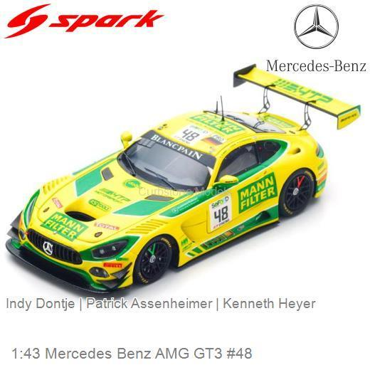Mercedes-Benz AMG GT3 #48 Mann Filter Team HTP Motorsport 24 Hrs Spa 2017 Heyer / Dontje / Assenheimer 1-43 Spark