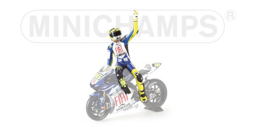Figuur Valentino Rossi Lap of Honour MotoGP Jerez 2007 1:12 Minichamps