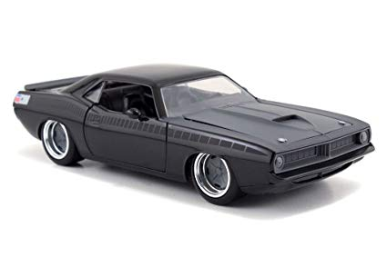 "Letty's Plymouth Barracuda ""Fast and the Furious"" Zwart 1-24 Jada Toys"